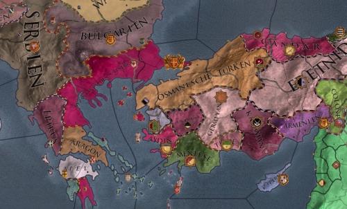 Flickenteppich Europa: Kleinasien verdeutlicht die komplexen Besitzverhältnisse, die geschickte Herrscher durch Heiratspolitik für sich nutzen.