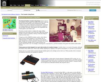 "Der ""Console Living Room"" macht alte Klassiker im Browser spielbar (eig. Screenshot)"