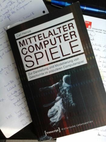 Abb.: Antworten aus Sicht der Geschichtswissenschaft? Die Dissertation von Heinze auf der Suche nach dem historischen Videospiel (Foto: eigenes)
