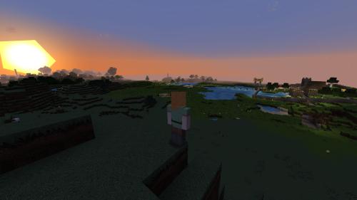 Abb.: Minecraft handelt in einem der Spielmodi vom Erkunden, Erforschen und Experimentieren in spannenden, unvorhersehbaren Welten. (Abb.: eigener Screenshot)