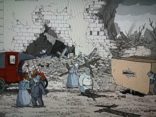 Es weinte und weinte, und ich konnte es doch nicht hinter den Ruinen retten. Nach dem Bombardement von Reims muss so manchem geholfen werden, bei nicht jedem ging es jedoch. (Abb. eigener Screenshot PS3)