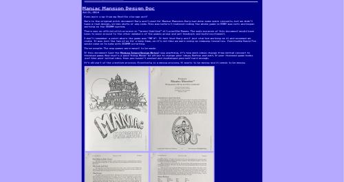 Abb.: Im grafischen Look füher Grafikadventures legt Ron Gilbert ein Stück Zeitgeschichte offen. (Abb.: Screenshot der Webseite)