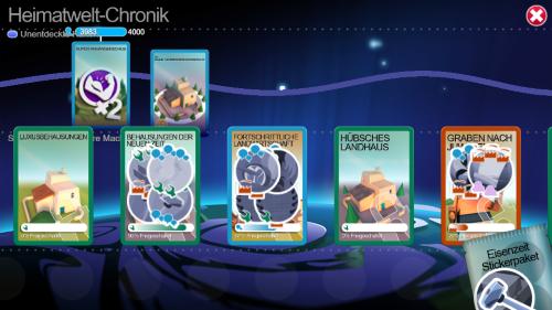 Bis höhere Karten durch Sammelsticker freigespielt sind, kann einige Zeit vergehen. (Abb. eigener Screenshot)