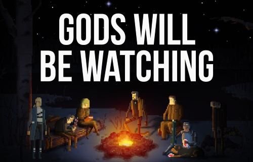 Gods Will Be Watching erzählt Episoden einer wendungsreichen Geschichte und verwendet einen eigenwilligen Grafikstil. (Abb.: Auszug eigener Screenshot)