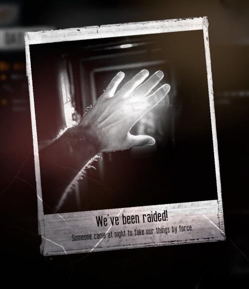 Nachts brechen Bewaffnete in den Unterschlupf und nehmen sich, was sie wollen. Ist es jetzt gut oder schlecht, dass die Überlebenden keine Waffen hatten? Schließlich leben ja noch alle (Abb. Ausschnitt eigener Screenshot)