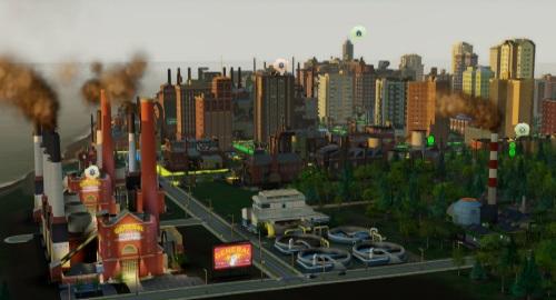 So hübsch der Dunst von Kohlekraftwerk, Müllverbrennung und Kläranlage in der Morgensonne aussehen mag, Anwohner verzeihen einem Bürgermeister nie, der die vorherrschende Windrichtung nicht berücksichtigt. (Abb.: Ausschnitt eigener Screenshot von PC).