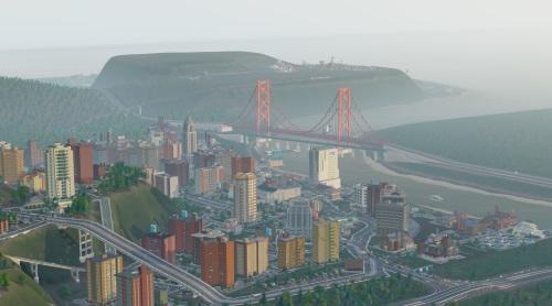 Auch wegen seines wuseligen Modellbauflairs wird die Reihe gespielt, der eigentliche Reiz liegt in der fragilen Balance eines städtischen Gemeinwesens. Bei SimCity von 2013 mussten sogar Regionen gemanaged werden. (Abb.: Ausschnitt eines eigenen Screenshots auf PC).