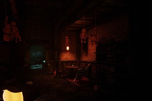 Je tiefer Lorraine in den Park hinabsteigt, umso verstörender werden die Relikte in ihrer Wohnung. (Abb.: eigener Screenshot PC)