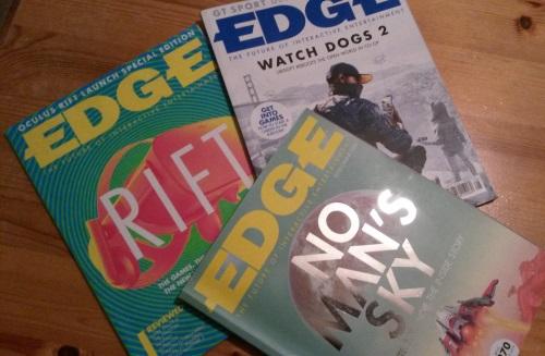 Einen hohen Maßstab für die spielekulturelle Ausrichtung eines Magazins setzt die britische Edge. (Abb. eigenes Foto)