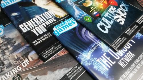 Abb. Zwischen den Netzwerken der Unternehmen, Einzelfallstudien, Trendanalysen und einem Blick auf regionale Spielkulturen des ganzen Globus zeichnet die Making Games ein Bild von der spielekulturellen Verfassung in der Branche und unter Entwicklern. (Abb. eigenes Foto)
