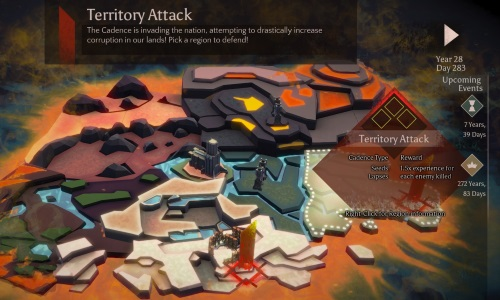 Erratisch greifen die Kreaturen der Kadenz das Reich in diversen Provinzen an. (Abb.: Ausschnitt, eigener Screenshot, PC)