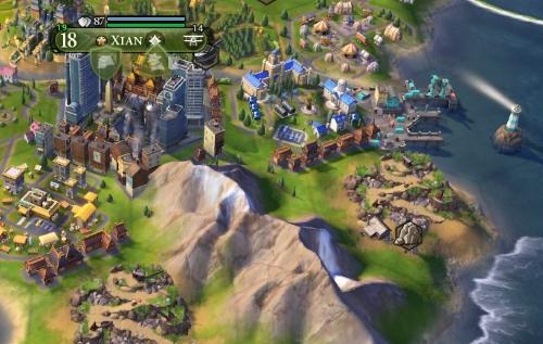Der Hafen von Xian schmiegt sich ein wenig abseits der Metropole in eine Bucht. (Abb. Ausschnitt, eigener Screenshot, PC)